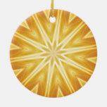 Golden crystals christmas tree ornaments