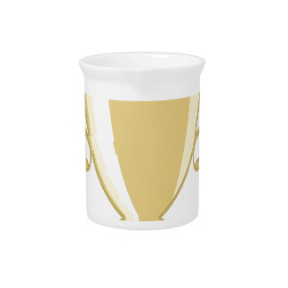 Golden Cup Beverage Pitcher