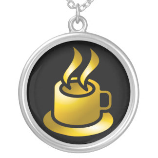 Golden Cup of Coffee Necklace