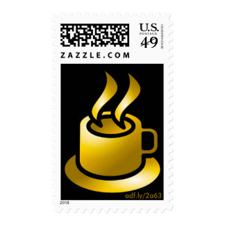 Golden Cup of Coffee U.S. Postage Stamps