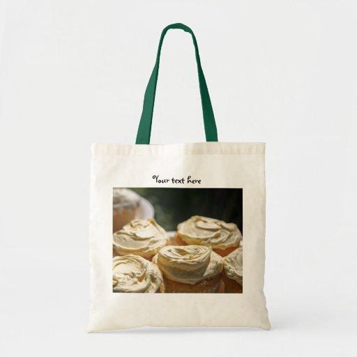Golden Cupcakes Designs Budget Tote Bag