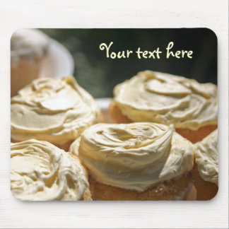 Golden Cupcakes Designs Mouse Pad