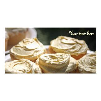 Golden Cupcakes Designs Photo Card Template