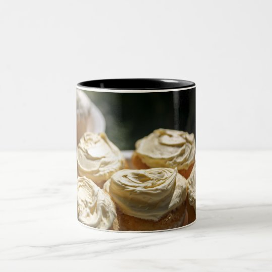 Golden Cupcakes Designs Two-Tone Coffee Mug