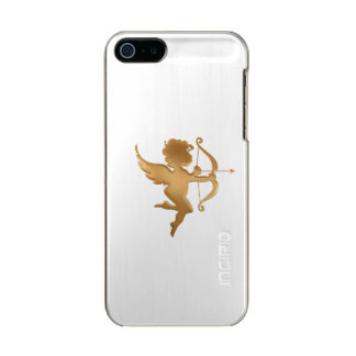 Golden Cupid Metallic Phone Case For iPhone SE/5/5s