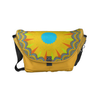 Golden cyan African Asian traditional bag