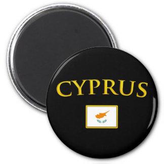Golden Cyprus 2 Inch Round Magnet