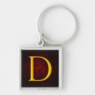 Golden D Monogram Key Chain