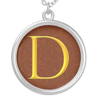 Golden D Monogram Custom Necklace