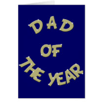 Golden Dad Of The Year Card Template