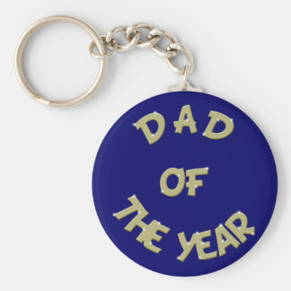 Golden Dad Of The Year Keychain
