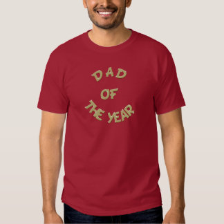 Golden Dad of The Year Maroon T-Shirt