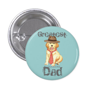Golden Dad Pinback Button