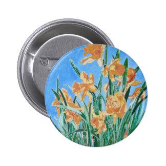 Golden Daffodils Pinback Button