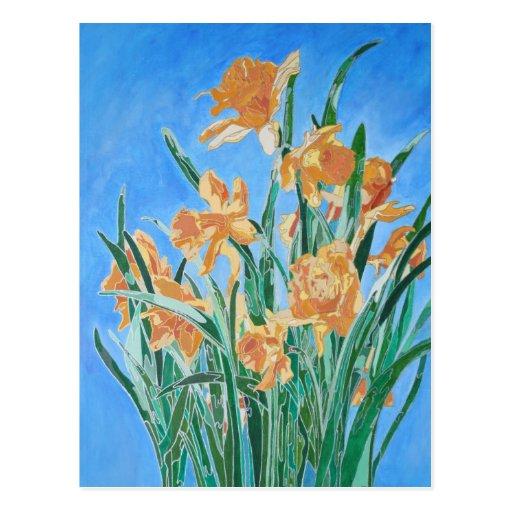 Golden Daffodils Postcard