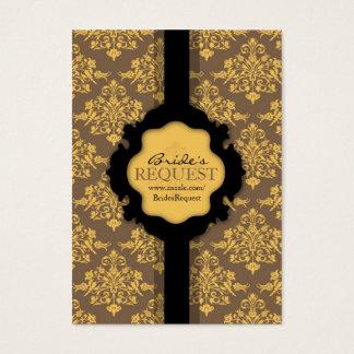 Golden Damask Business Card