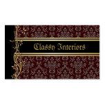 Golden Damask Luxury Custom Business Cards