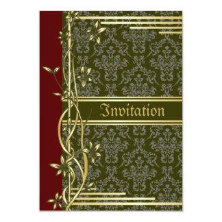 Golden Damask Luxury Custom Wedding Invitation