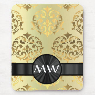 Golden damask mouse pad