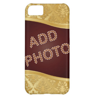 Golden Damask Photo Frame Case For iPhone 5C