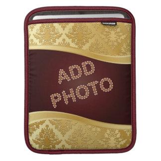 Golden Damask Photo Frame Sleeves For iPads