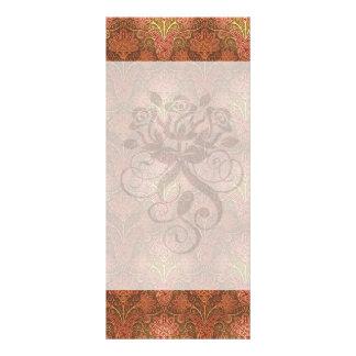 golden damask custom rack card