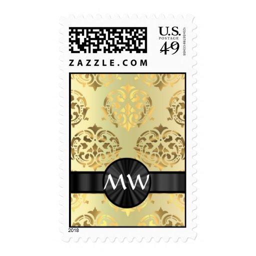 Golden damask stamps