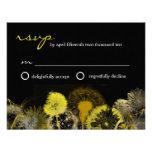 golden dandelion rsvp custom invitations
