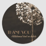 Golden Dandelion Wishes Thank-You Stickers