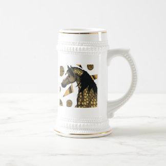 Golden dapples, swirling shapes ,  Charli Windsor 18 Oz Beer Stein