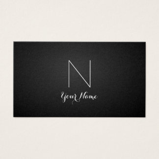 Golden Daring and Monogrammed Business Card