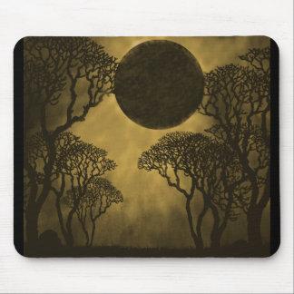 Golden Dark Forest Eclipse Mousepad