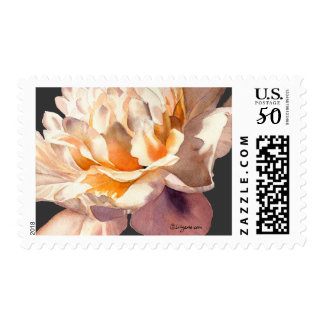 Golden Dark Peony Wedding Postage
