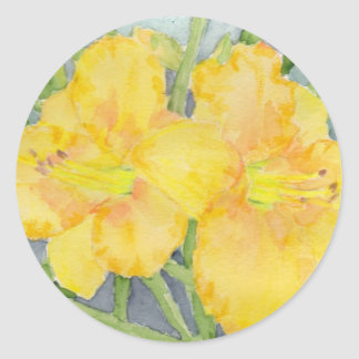Golden Daylilies Stickers