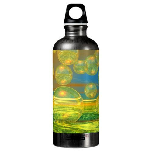 Golden Days - Yellow - Azure Tranquility Aluminum Water Bottle