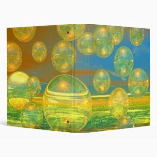 Golden Days - Yellow & Azure Tranquility Vinyl Binders