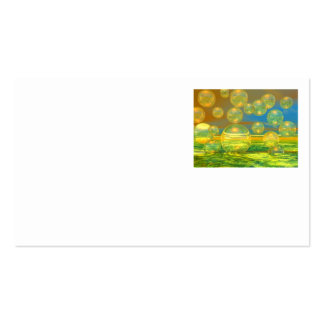 Golden Days - Yellow & Azure Tranquility Business Cards