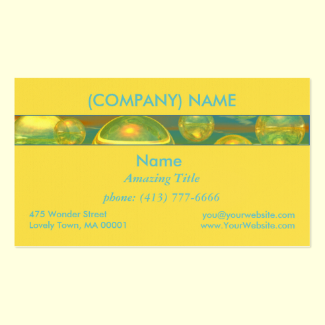 Golden Days - Yellow & Azure Tranquility Double-Sided Standard Business Cards (Pack Of 100)