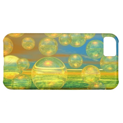 Golden Days - Yellow & Azure Tranquility iPhone 5C Cover