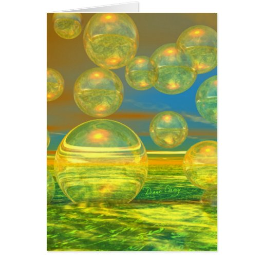 Golden Days - Yellow & Azure Tranquility Greeting Card