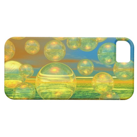 Golden Days - Yellow & Azure Tranquility iPhone SE/5/5s Case