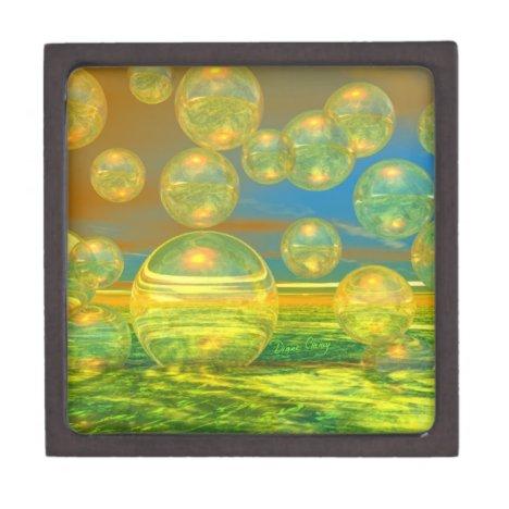 Golden Days - Yellow & Azure Tranquility Jewelry Box