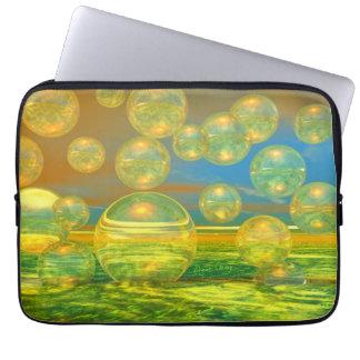 Golden Days - Yellow & Azure Tranquility Laptop Sleeve