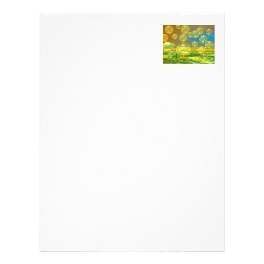 Golden Days - Yellow & Azure Tranquility Letterhead