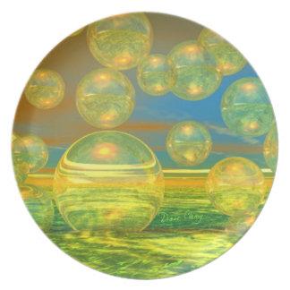 Golden Days - Yellow & Azure Tranquility Dinner Plate
