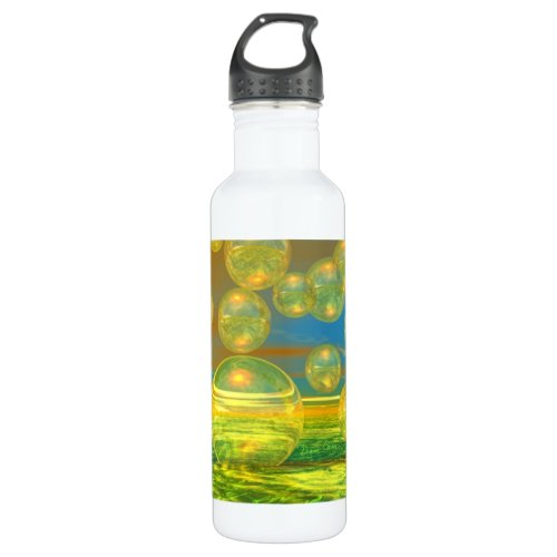 Golden Days - Yellow & Azure Tranquility Stainless Steel Water Bottle