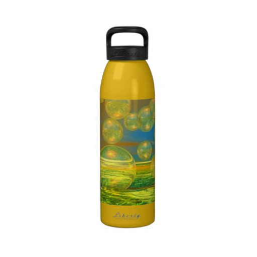 Golden Days - Yellow - Azure Tranquility Drinking Bottle