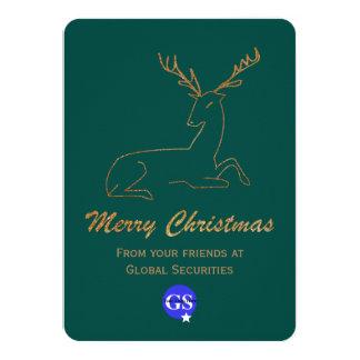 Golden Deer Corporate Christmas Card