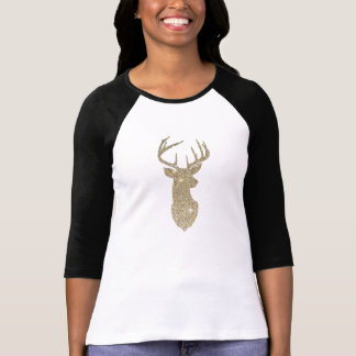 Golden Deer Head Tee Shirts