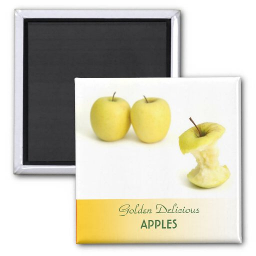 Golden Delicious Apples 2 Inch Square Magnet